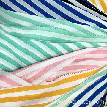 Custom Shirting Textile 100% Rayon Striped Printed Fabric