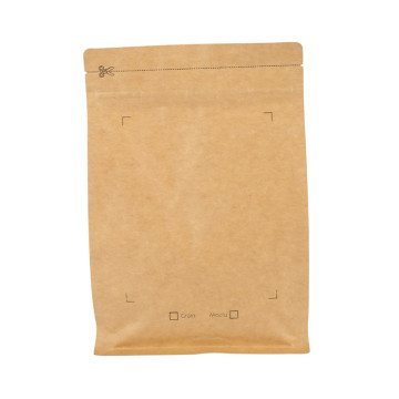 Wholesale Small Flat Kraft Foil Ziplock Coffee Packing Paper Bag