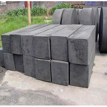 Vibration forming medium coarse graphite