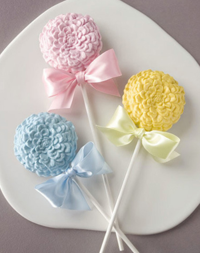 Flower Chocolate Lollipop Silicone Mold (13)