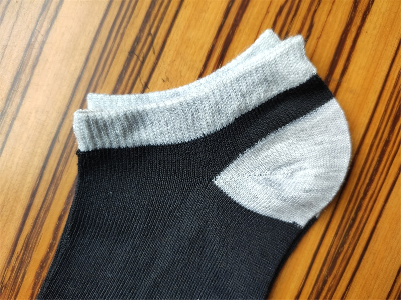 Lady's black and white socks