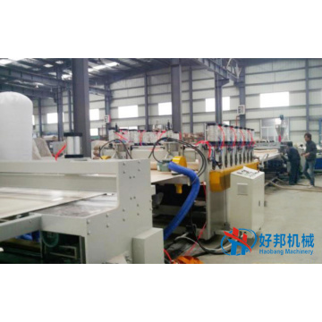 Skinned PVC foam sheet extrusion plant