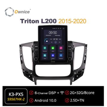 Ownice Octa 8Core Android 10.0 Car Radio forMitsubishi Triton L200 2015 - 2020 GPS 2 Din Multimedia Stereo Player Tesla Style