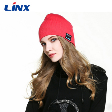Bluetooth Bahan Lembut Akrilik Bertenaga Beanie Hat Headphone