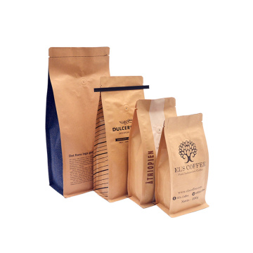 Kraft Paper Coffee Packaging Bags