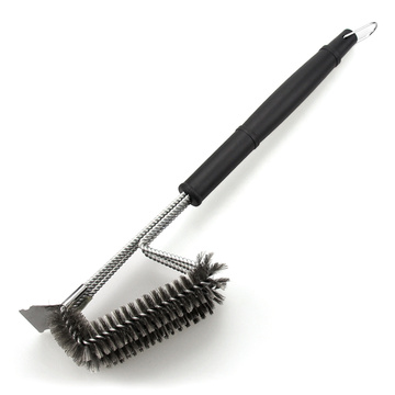 Stainless Steel BBQ Cleaning Brush With Scraper