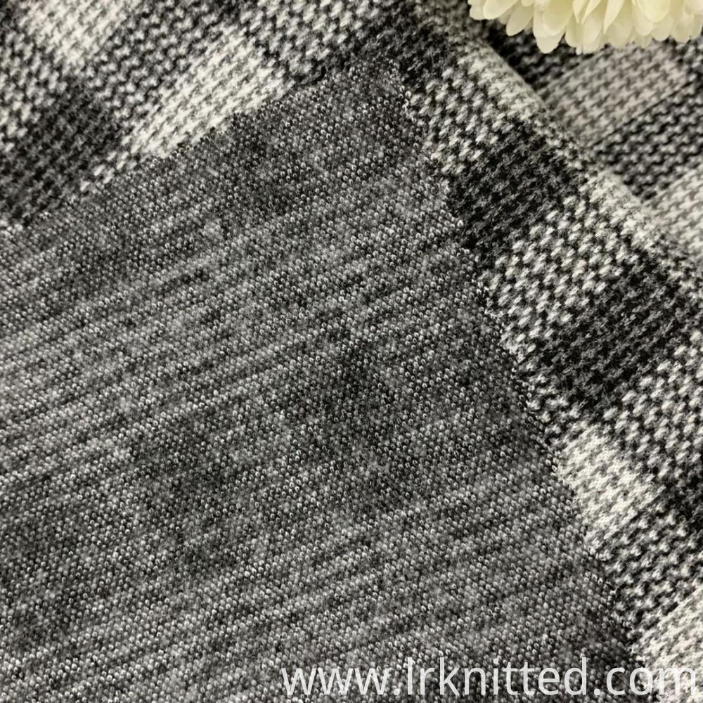 Checked Terry Fabric