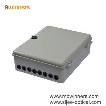 Ftth Ip65 Waterproof 8 16 24 48 72 Core Fiber Optic Plastic Distribution Box