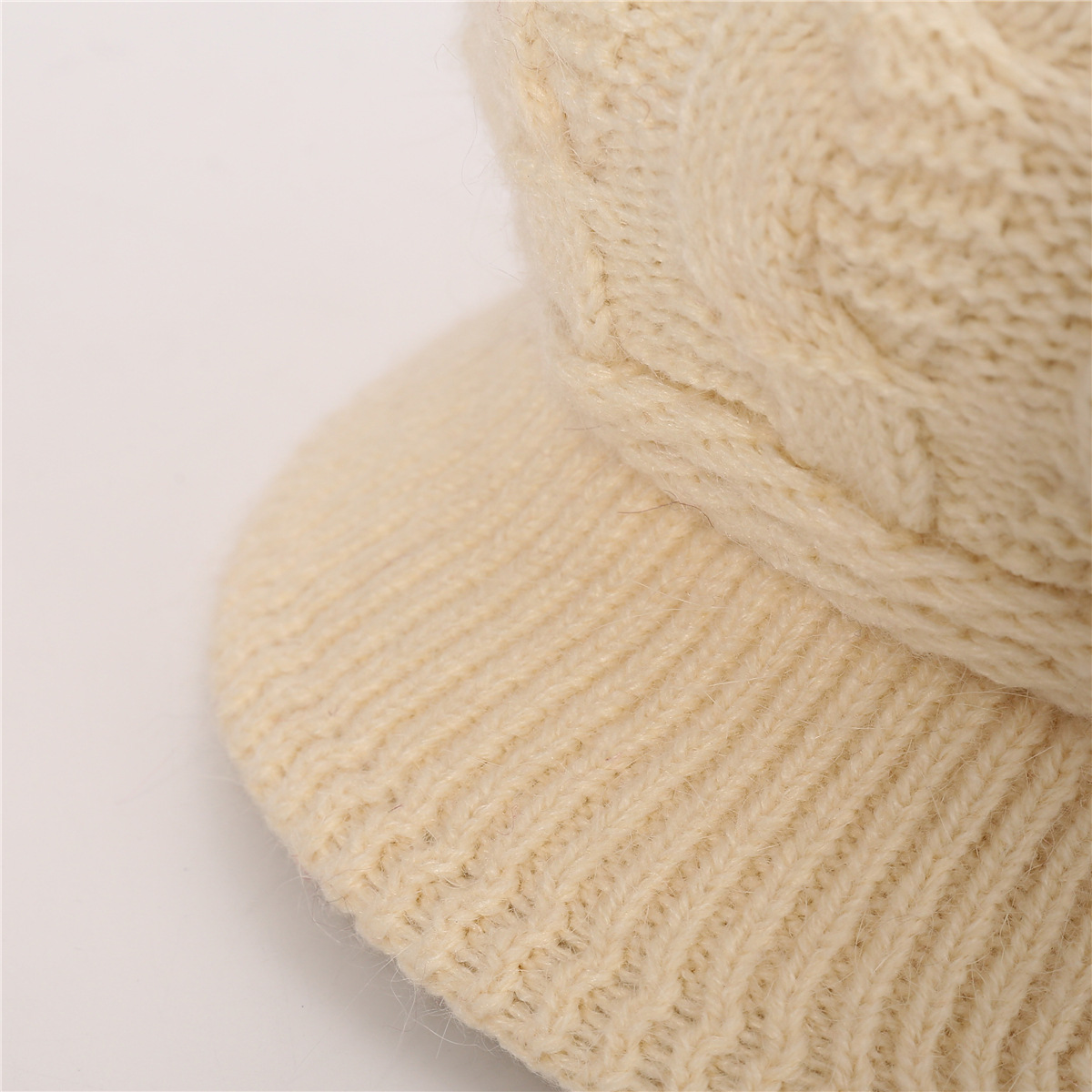 European and American warm rabbit wool knit cap (11)