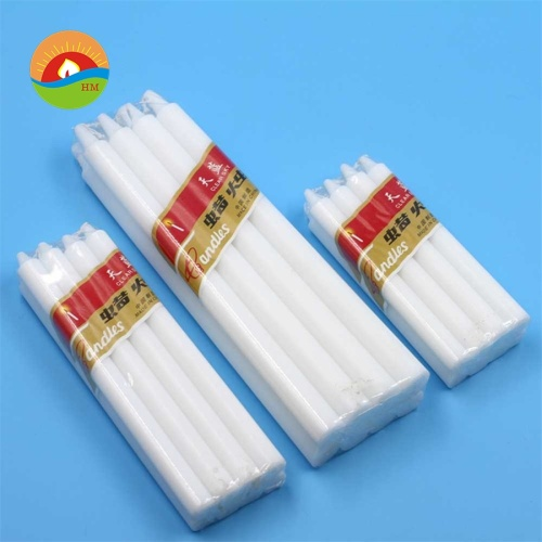 White pillar solid candle