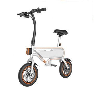 12 inch Portable Black Electric Bikes for Adults