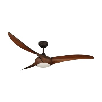 ABS wood color blades ceiling fan with light