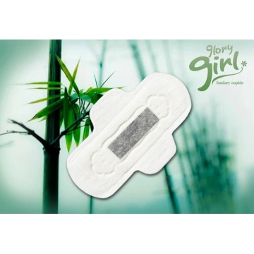 Super absorbent bamboo charcoal sanitary pads