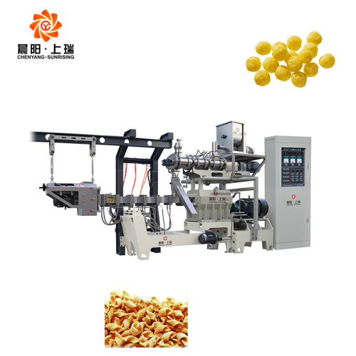 Chips snack making machines cheese ball puff machine