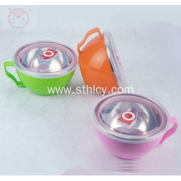 Stainless Steel Food Container With Lid And Handle