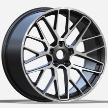 Aluminum Porsche Replica Wheel 22X10.5 Black Machined Face