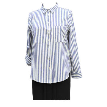 Ladies Woven Cotton Y.D Stripe Oxford Shirt