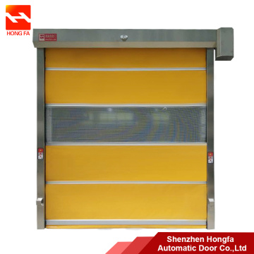 Automatic PVC Roller Shutter Door with Galvanized Frame