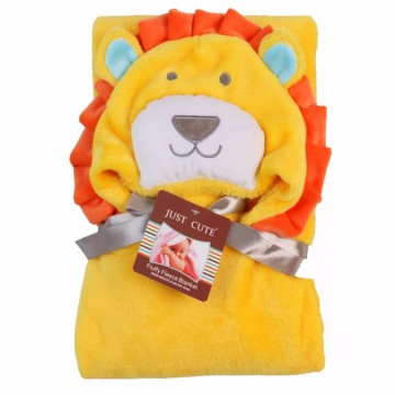 2017 New Cottons Hooded Animal Lion Baby Bathrobe High Quality Pattern Cartoon Baby Towel Character Kids Bath Robe Infant Towel