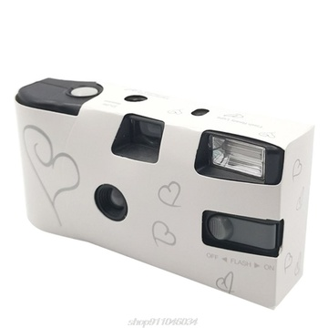 27 Photos Power Flash Single Use One Time Disposable Film Camera Party Gift D15 20 Dropshipping