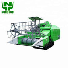 crawler rice combine harvester wheat cutting machine