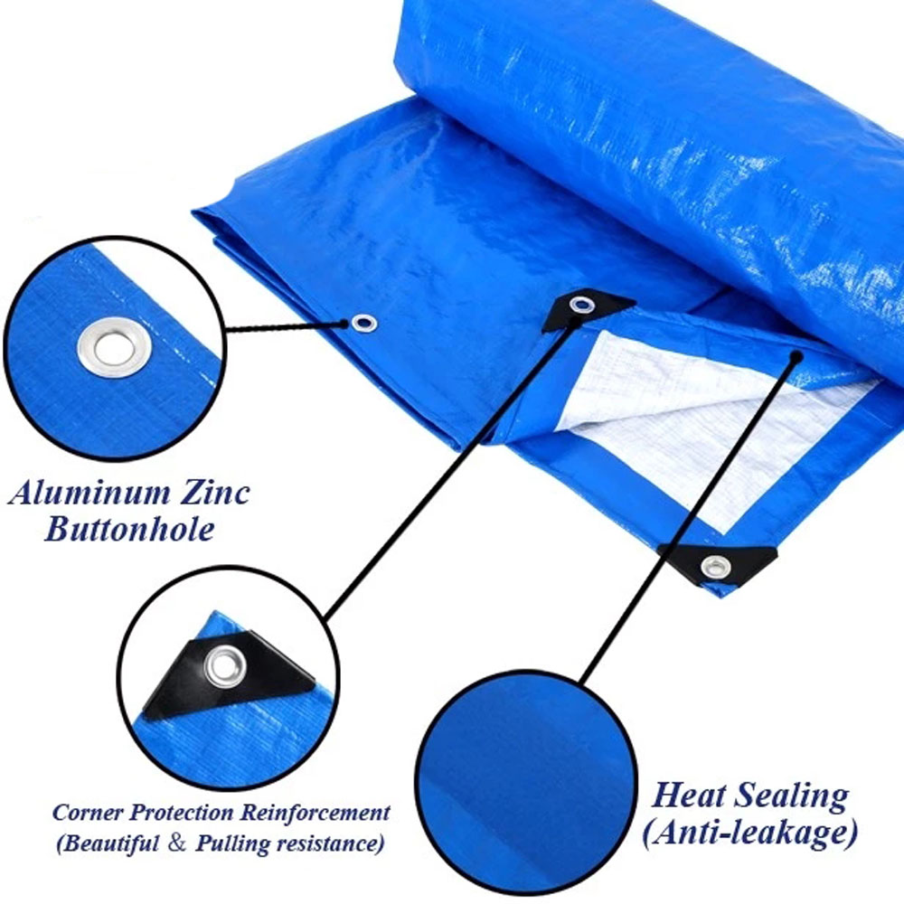 Blue White Tarpaulin Agriculture Products Cover