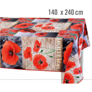 Pvc Printed fitted table covers Foot Christmas Table