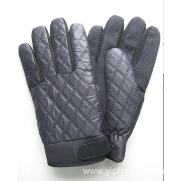 Windproof embroidery durable outdoor mens glove