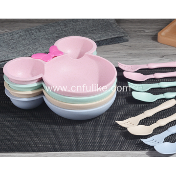 3-Pieces Mickey Mouse Shape Tableware