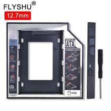"""Universal Aluminum 2nd HDD Caddy 12.7mm SATA 3.0 For 2.5"""" SSD Hard Disk Driver Case Enclosure DVD CD-ROM Adapter Optibay 12.7"""