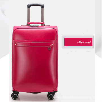 PU wholesale trolley business men luggage with wheel