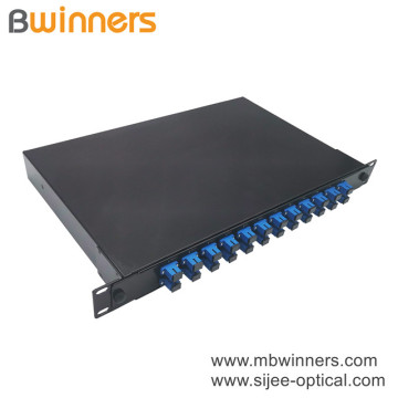 1U 24 Cores SC Fiber Optic Termination Box Patch Panel