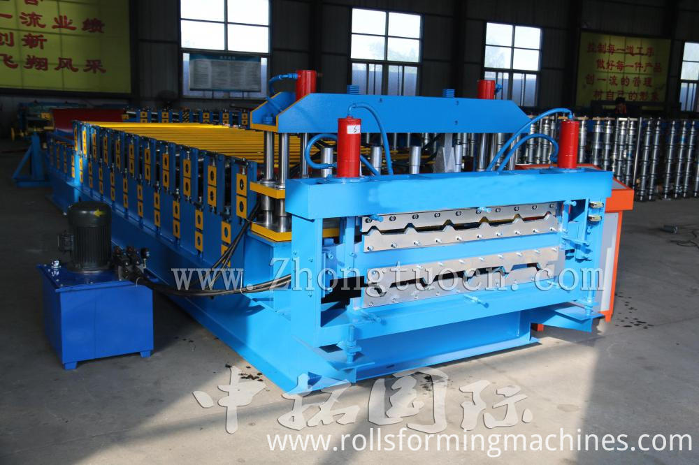 Double layer metal forming machine