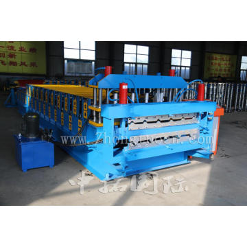 Double Layer for Glazed Trapezoidal Roof Tile Machine