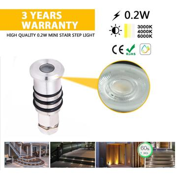 Decorative outdoor lighting 0.2W DC12V LED deck light
