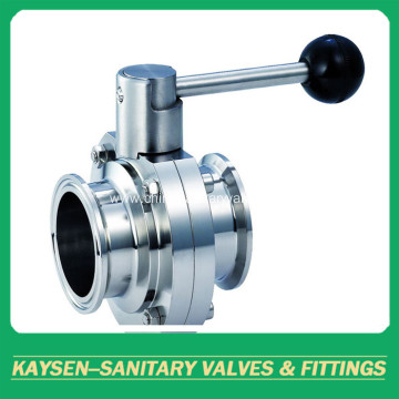 DIN Hygienic Butterfly Valves Clamp end