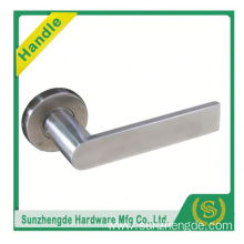 SZD STLH-005 2016 New Model Lever Door Handle Steel On Round Rose Stainless Set