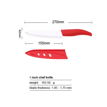 6 Inches TPR Handle  Ceramic Chef Knife