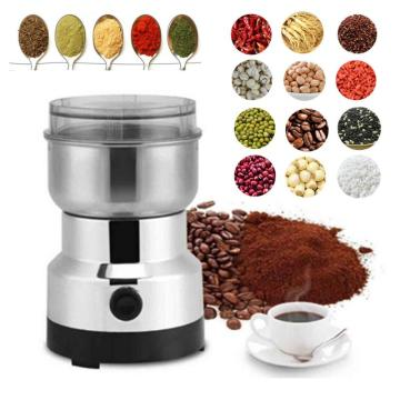 220V Household Stainless Steel Grinder Coffee Bean Grinder Easy To Clean Kitchen Tools Four Specifications Converter