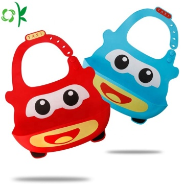Customized Food Grade Waterproof Silicone Baby Bibs