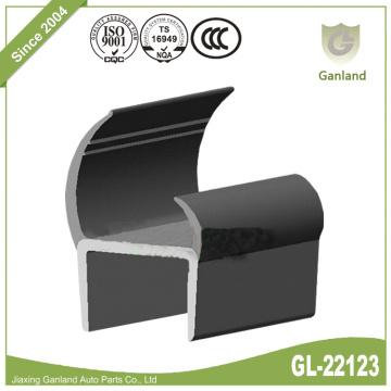 Door Seal PVC Rigid Carrier With Flexible Lip