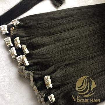 Black invisible tape in hair extensions
