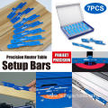 7PCS Precision Router Table Set Up Bars