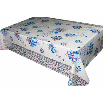 Transfer Printing  fabricTablecloth with Silver/Gold