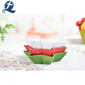 High quality tableware creative hexagonal star shape ceramic dish set