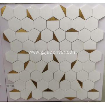 White Bathroom Floor Tile Mosaic Wholesale