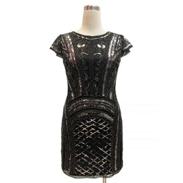 shining casual Sequin cap sleevee dress