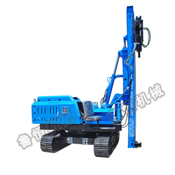 Photovoltaic mounting diesel hydraulic press pile driver