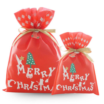 New Design Red Merry Christmas Gift Packaging Bag