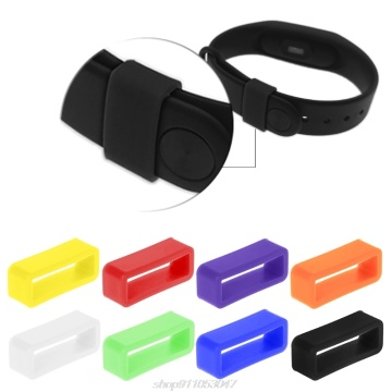 Silicone Anti-Fall Buckle Ring Loop Keeper Holder For Smart Bracelet Watch Band D11 20 Dropshipping